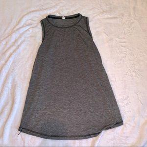 Women's gray sleeveless athletic tank